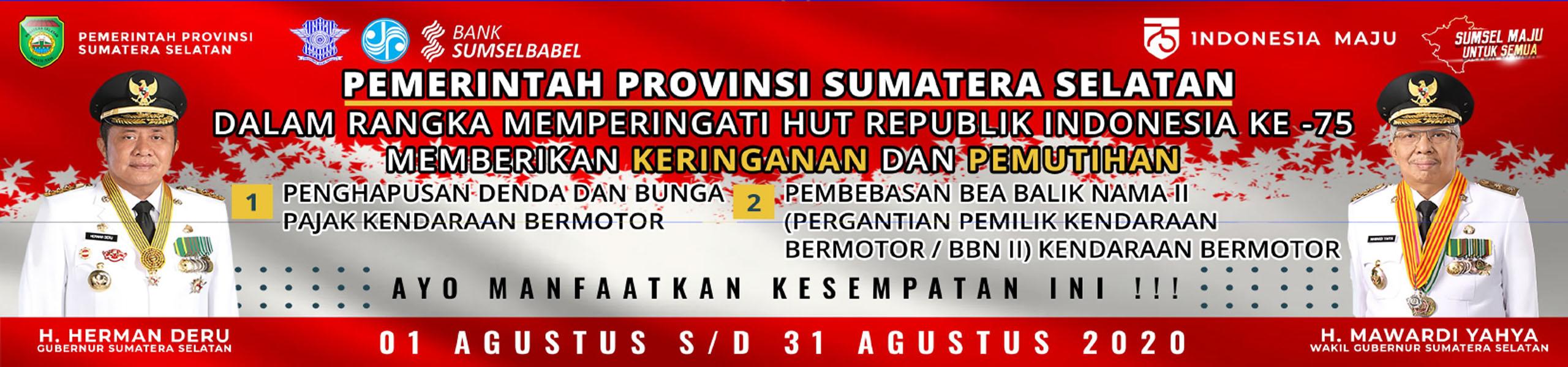 Graha Nusantara - Gubernur dan Wakil Gubernur, Herman Deru-Mawardi Yahya, Sumatera Selatan(Sumsel)